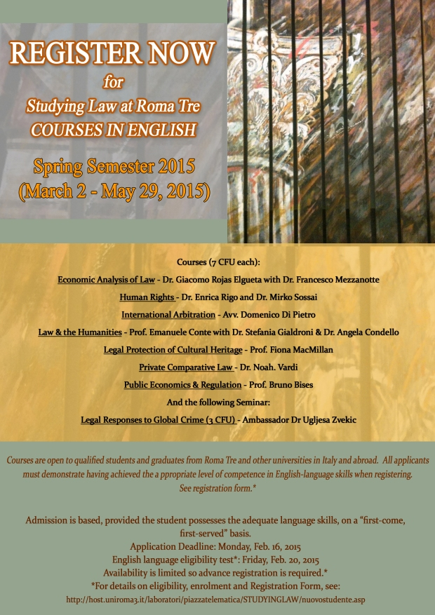 STUDYING LAW SPRING 2015