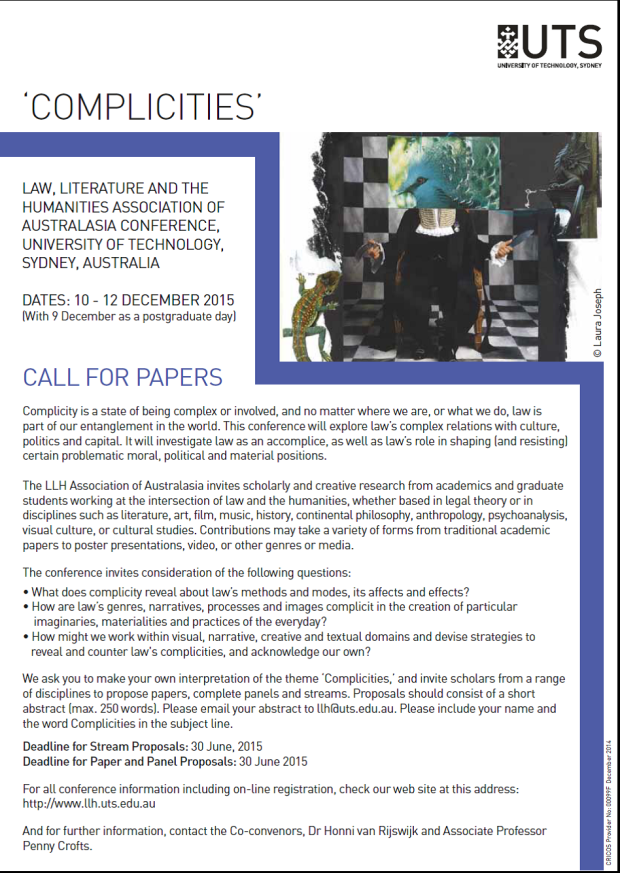 CFP Australiasia conference 2015